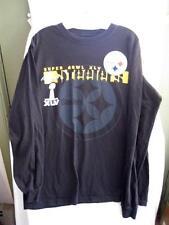 Pittsburgh Steelers Super Bowl XLV 45 Long Sleeve Black Mens Shirt Size Large O