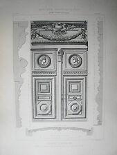 GRANDE PLANCHE XX° ARCHITECTURE STYLE LOUIS XIV BAROQUE HOTEL BEAUVAIS PARIS