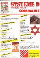 Magazine Système D N°455 décembre 1983 Jouets et décorations de Noël