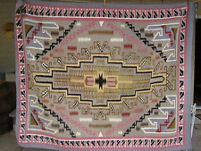 Authentic Navajo Woven Wool Rug 58 x 47 by Agnus Yazzi  Estate Collection W/Tag