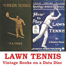 Lawn Tennis Collection 46 Vintage Sports Books on Data Disc
