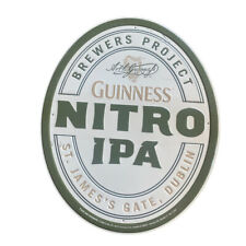 Guinness Nitro Ipa Beer Sign Metal Tin Harp Dublin Ireland St James Gate 23x19