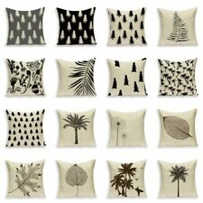 Retro Simple Cushions Case Scandinavian Pine Tree Pillow Covers