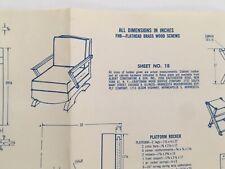 Vintage Platform Rocker Modern Handcraft Woodworking Craft Pattern   Mid Century