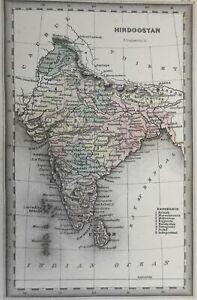 British Raj India Calcutta Bombay Delhi Agra 1831 Carey & Lea map