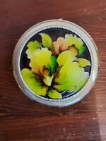 Vintage CROWN Silver Powder Compact