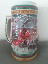 1997 Budweiser Holiday Beer Stein Home For The Holidays Christmas Cs313