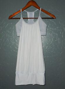 LULULEMON Athletic Tank Top Shirt NO LIMITS Gray w Open Shelf Bra Yoga Workout 4