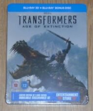 Transformers: Age of extinction 3D - Steelbook - blu-ray. New & sealed. UK