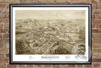 Vintage Morristown, NJ Map 1876 - Historic New Jersey Art - Victorian Industrial