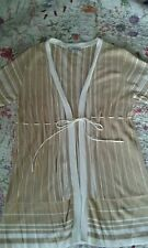 kaleidoscope camel/tan/beige and white stripe tie Cardigan 14