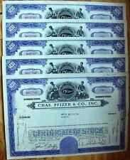 Dealers lot 10 stock certificates Chas. Pfizer & CO.; Inc, (B51)