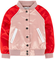 Burberry Girls Pink Bartinstead Satin Classic Bomber Coat Jacket AGE 8 YEARS