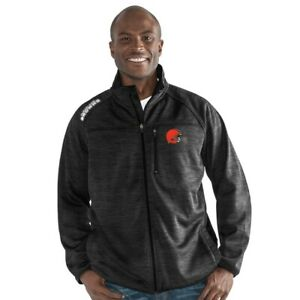 G-III Sports Cleveland Browns Men's Mindset Full Zip Jacket - Charcoal