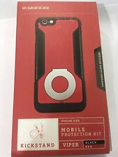 SaHaraCaSE Apple Iphone 6/6s Mobile Protective Kit-Viper Black and Red New Rare