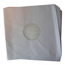 "50x 12"" LP Innenhüllen Schutzhüllen weiß, 90gr, gefüttert, mit Mittelloch NEU!"