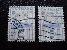DANEMARK - timbre yvert et tellier n° 664 x2 obl (A33) stamp denmark (E)