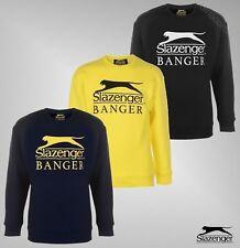 Mens Slazenger Fleece Long Sleeves Top Banger Crew Sweatshirt Sizes S-XXL
