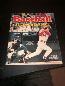 1986 Edition Topps Baseball Sticker Yearbook - Pete Rose Cover - Unused