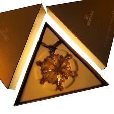 Swarovski 2012 Gold Tone Christmas Star / Snowflake, Mint with both boxes