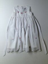 Girl Fantaisie Kids White Pink Flowers Holiday Party Easter Dress Size 4