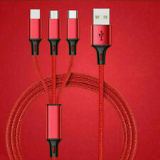 3 in 1 Fast USB Charging Cable Universal Multi Function Cell Phone Cord Charger