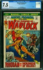 MARVEL PREMIERE 2 CGC 7.5 OWW PAGES WARLOCK  A5