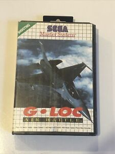 G LOC Air Battle SEGA MASTER SYSTEM COMPLETE Aeroplane Game (lot1)