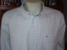 TOMMY HILFIGER 100% Cotton Men's Shirt Size XL Long Sleeve Spread Collar NWT