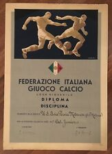 DIPLOMA,1955 FEDERAZIONE ITALIANA GIUOCO CALCIO,AVIA PERVIA MODENA,FOOTBALL,FGCI