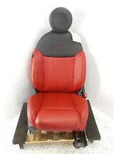 12-17 Fiat 500 Lounge 2 Door Front Passenger Right Seat OEM Leather Black & Red