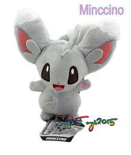 "Pokemon Center Black & White 7"" Minccino Stuffed Plush Doll Xmas Cute Toy Gift"
