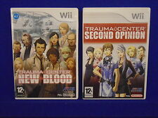 wii TRAUMA CENTER x2 Games New Blood & Second Opinion MINT DISCS Nintendo PAL