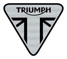 Logo adhésif gravé Triumph Speed Street Bonneville - 5,5cm x 5cm - épaisseur 1mm