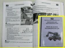 Merlo ROTO 40.18 EVS Teleskopstapler Bedienungsnaleitung Betriebsanleitung