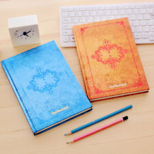 Flower  Hard Cover Cardboard Thick Notebook Journal Diary Sketchbook Blank Pages