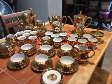 More details for large amount of gold lustre tea/coffeesets