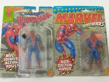MARVEL SUPER HEROES LOT MULTI JOINTED & WEB SUCTION SPIDERMAN TOYBIZ