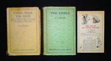 2 AA MILNE 1sts - Two People and Those Were the Days & Winnie the Pooh Ad Sheet
