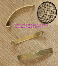 3 Holding Brass Bracket Clip clamp Headlight Stone Guard Kawasaki Yamaha Triumph