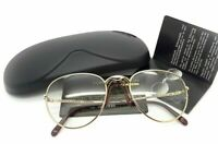 Porsche Design by Carrera 5662 40 1990s Vintage Gold Eyeglasses Leather Nose Pad