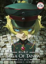 DVD Anime Saga of Tanya The Evil / Youjo Senki Eps. 1-12 End + Free Shipping