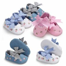 Soft Newborn Baby Girl Sole Cotton Crib Shoes Anti-slip Sneaker Prewalker 0-18M