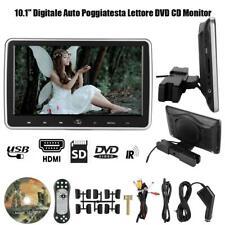 """10.1"""" Auto Poggiatesta Lettore DVD CD Monitor Video Gioco Schermo HDMI AV USB SD"""