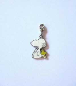 Snoopy & Woodstock Enamel Pet Dog Puppy Jewellery Collar or Lead  Clip on Charm