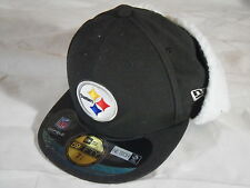 New Era 5950 59Fifty Pittsburgh Steelers On Field Dog Ear Wool Fitted Hat 7 3/8