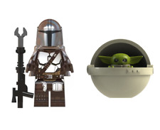 Star Wars The Mandalorian & Baby Yoda with Pod 2 Lego Compatible Minifigures