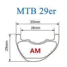 29er 35mm wide MTB carbon rim offset mountain bike rim asymmetric profile design