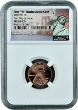 2019 W Uncirculated Lincoln First Day of Issue Cent MS69 RD NGC