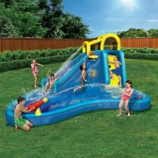 Banzai Big Blast Inflatable Outdoor Water Park and Cannon Splash Slide Lagoon